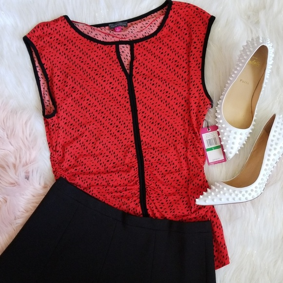 6c69697b8 Vince Camuto Tops | 425 Red Modern Tribe Top | Poshmark